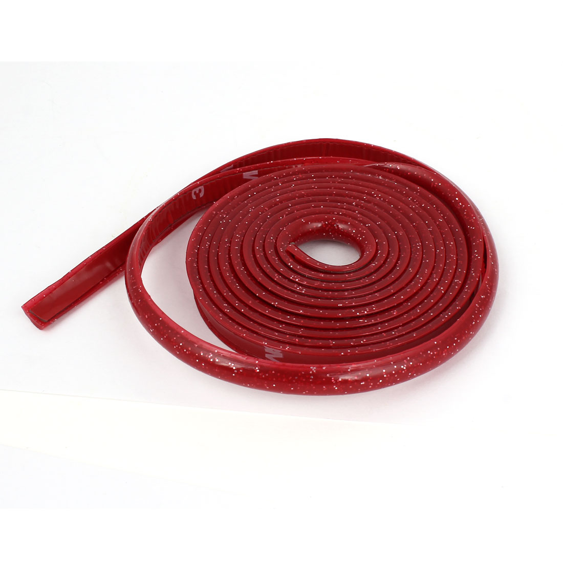 Glitter Red Interior Flexible Shift Knob Trim Car Moulding Trim Strip 2 Meter