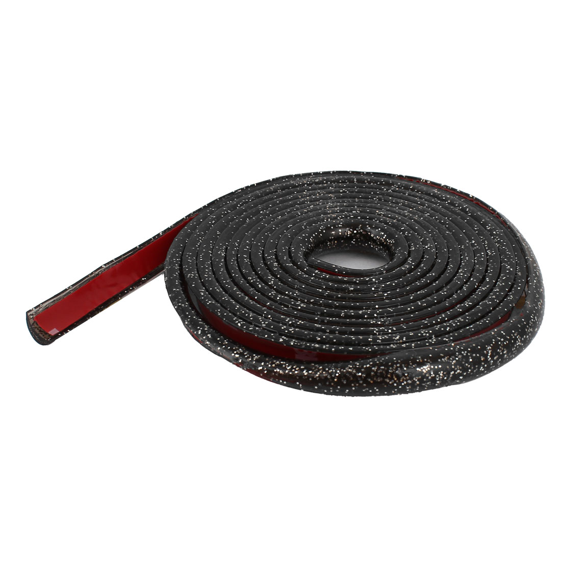Glitter Black Plastic Slim Car Decorative Moulding Trim Strip 2M Long