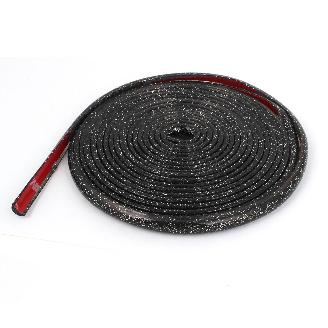 4 Meters Length Glitter Black Soft Plastic Flexible Strip Sticker for Car
