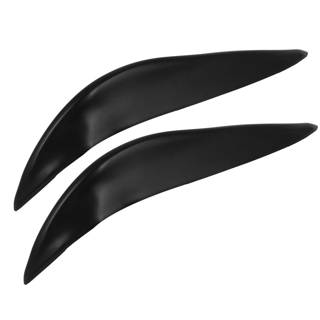 2 Pcs Car Black Corner Soft Plastic Front Rear Bumper Protector Stickers