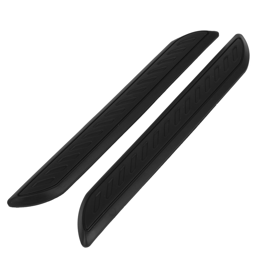 Pair Decoration Black Soft Plastic Car Door Bumper Guard Bar