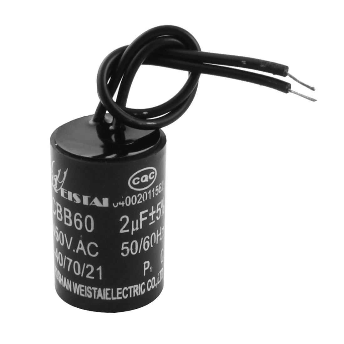CBB60 2uF AC 450V Polypropylene Film Motor Run Capacitor for Washer