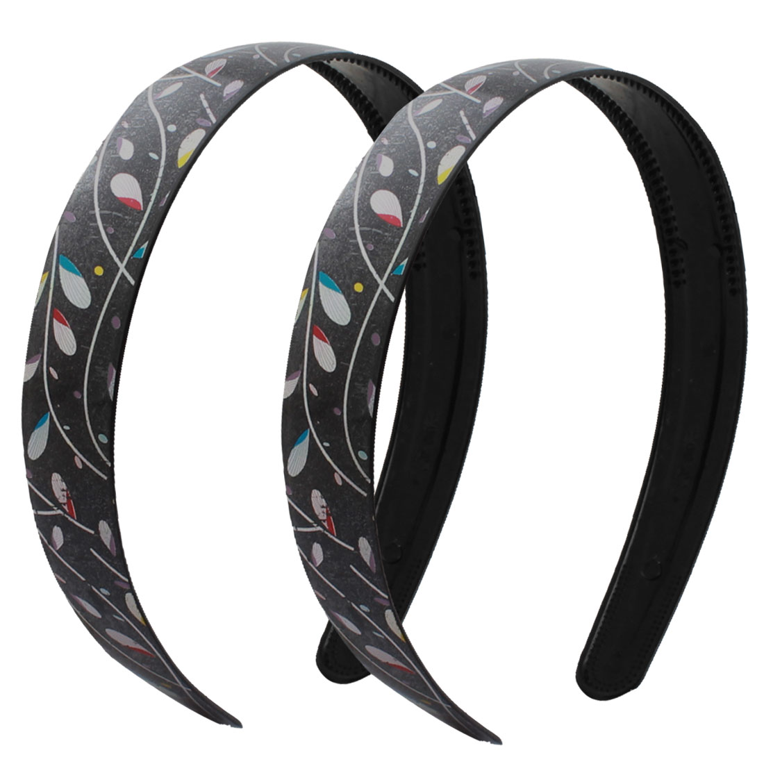 2 Pcs Headdressing Tree Prints Black Hair Head Hoop Headband for Women