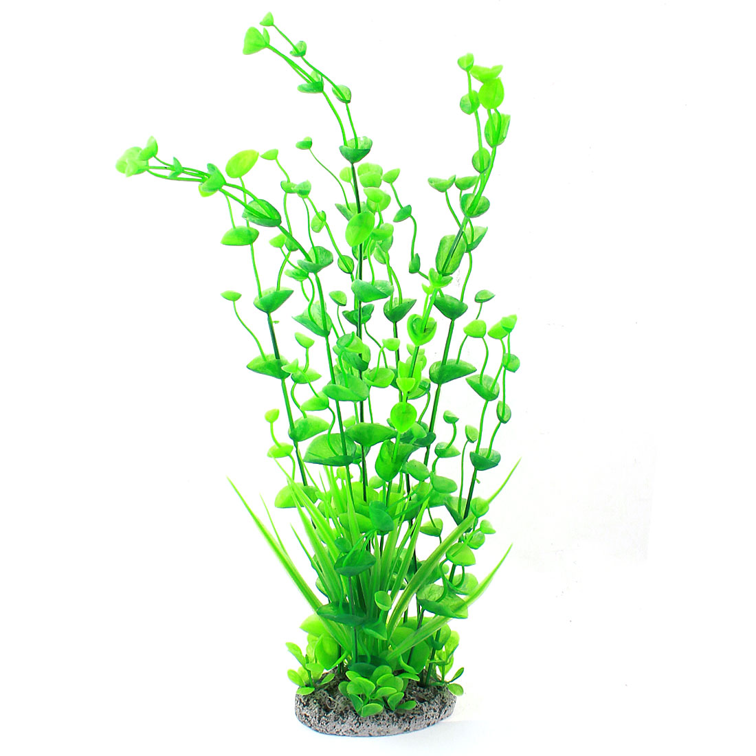 "Aquarium Plastic Simulation Water Grass Aquatic Plant Decor Green 16.3"" High"