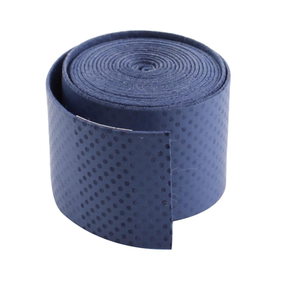 "Badminton Tennis Racket Anti Slip Blue Foam Grip Tape 44"" Length"