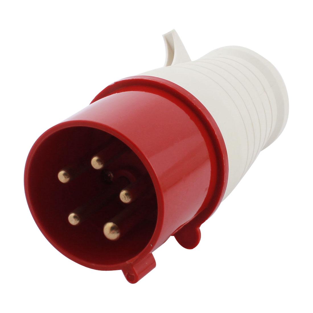 Parts AC 220-380V 240-415V 32A IP67 3P + E + N IEC309-2 Industrial Plug Red
