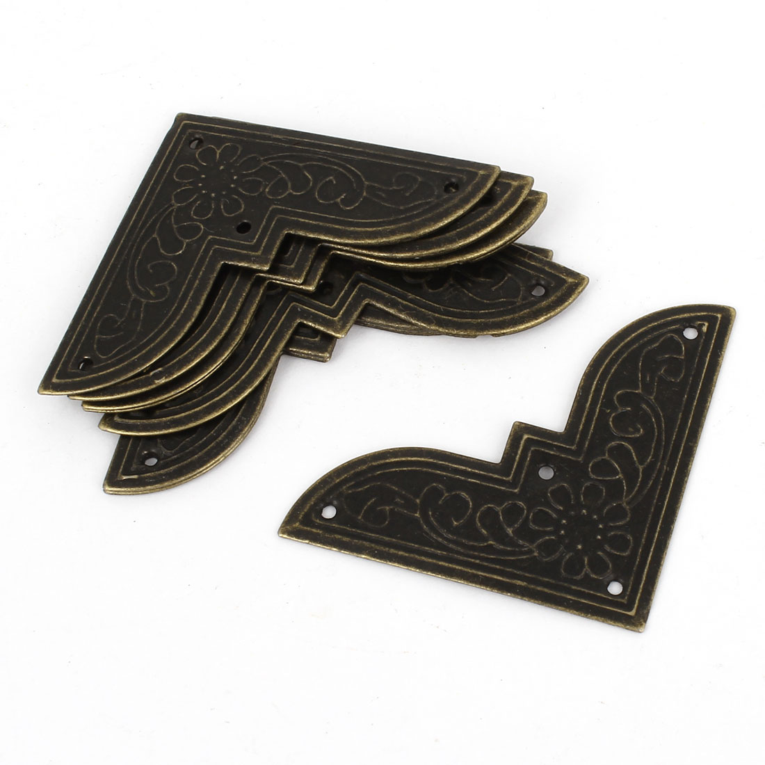 8pcs Hardware Antique Style Archaize Fillet 45mm x 45mm for Wooden Gift Box Corner Decor