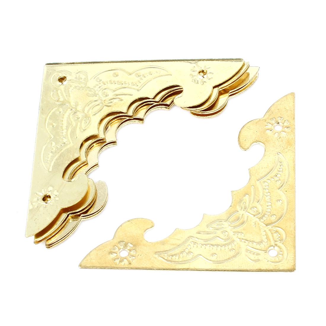 8pcs Hardware Bat Pattern Archaize Fillet Gold Tone 40mm Long for Wooden Box Decor