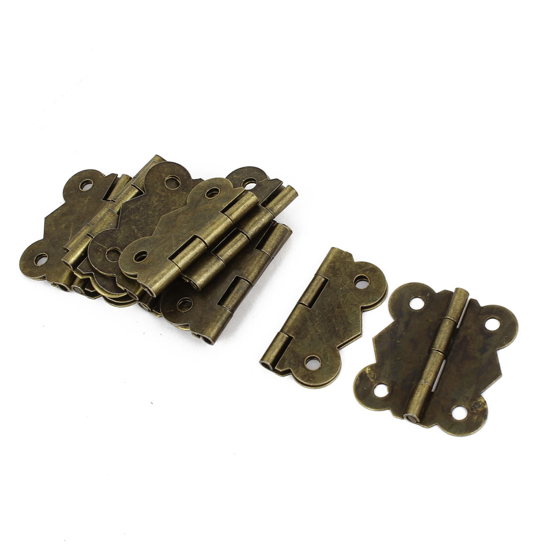 12 Pcs Bronze Tone Rotatable Window Drawer Door Butt Hinges 3cm Long