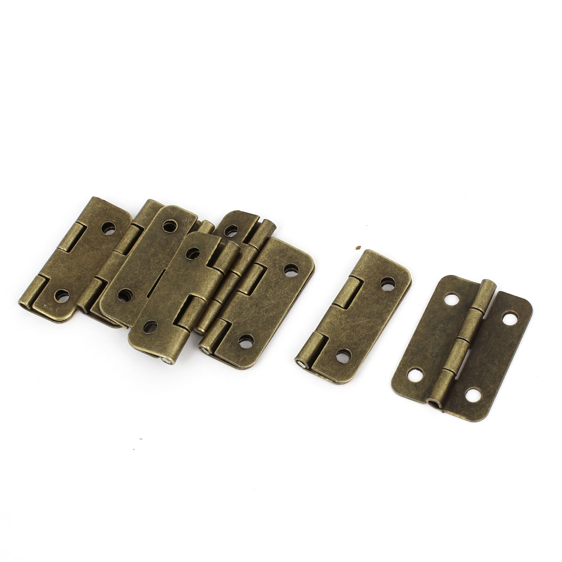 8 Pcs Bronze Tone Rotatable Drawer Dresser Door Butt Hinges 3cm Long
