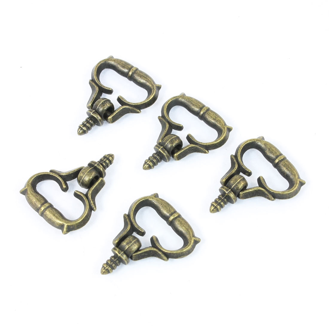 5 Pcs 3mm Male Thread Pull Knob Handle Bronze Tone for Dresser Jewelry Box Drawer Door
