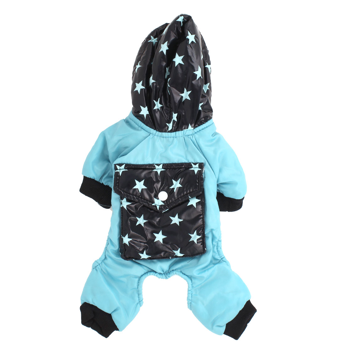 Pet Dog Doggy Pentagram Print Hoodie Apparel Clothes Coat Light Blue Black Size XXS