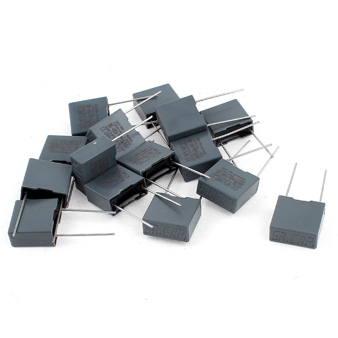 15pcs AC280V 0.22uF Capacitance Two Axial Leads Polyester Film Capacitors