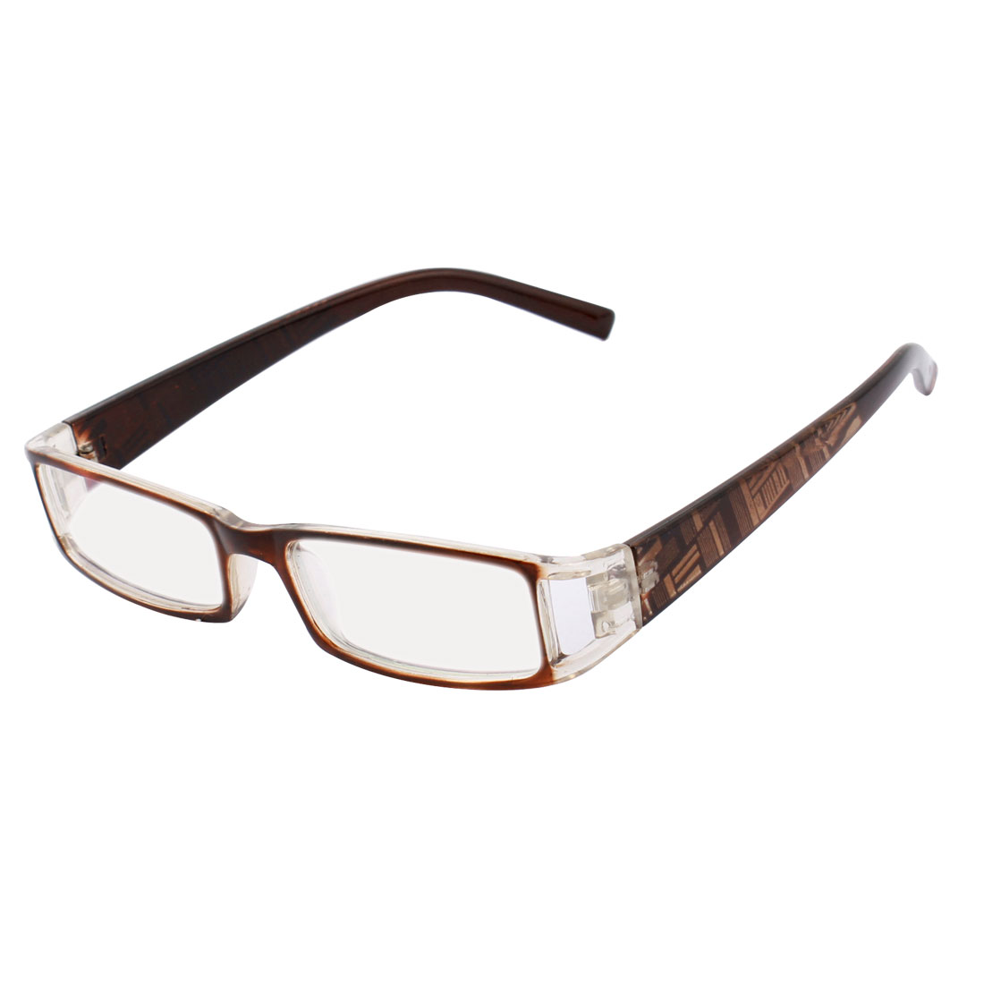 Lady Multi Coated Lens Full Rim Plastic Arm Plano Glasses Eyewear