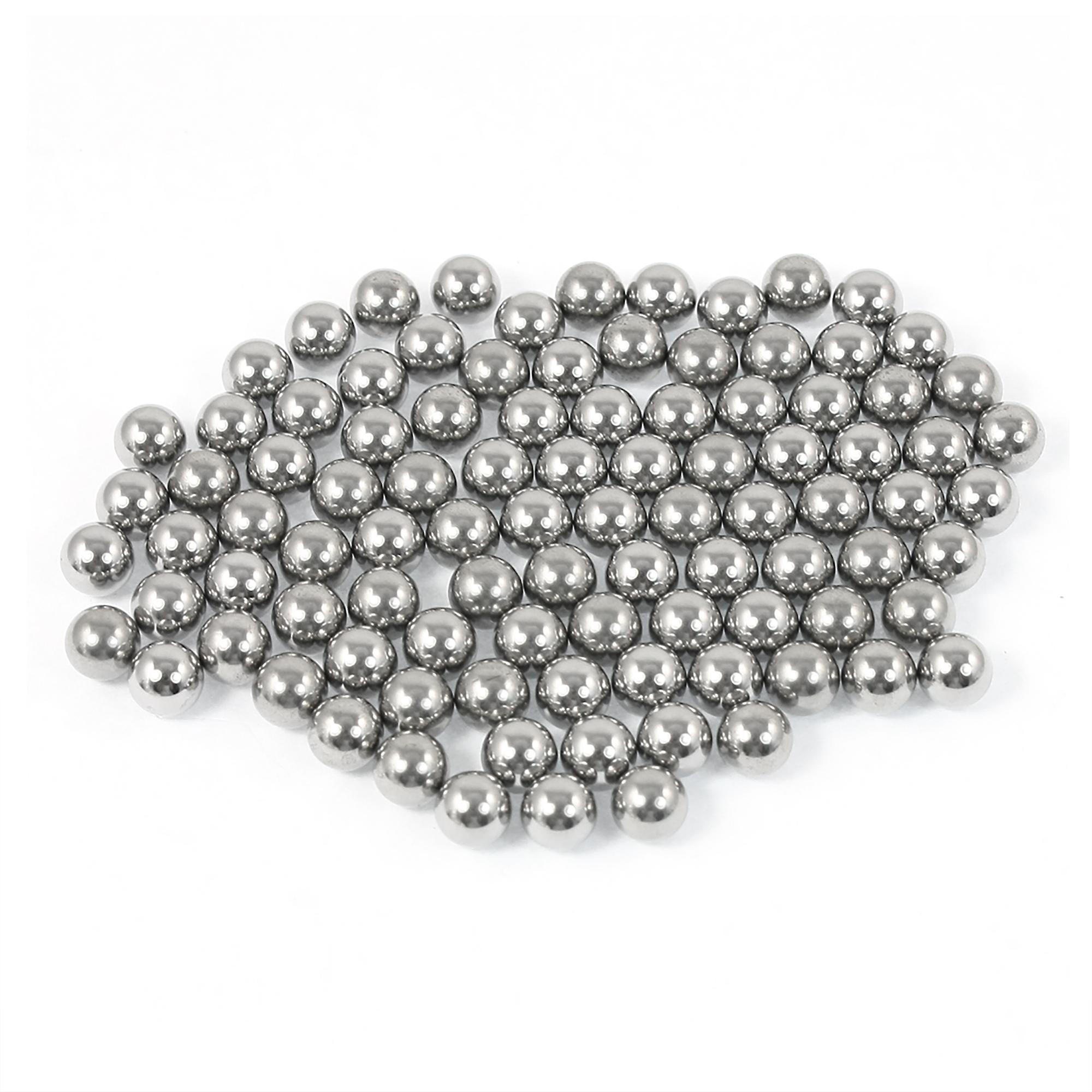 Bike Hub Wheel Bearing Steel Balls Repair Parts 6.35mm Diameter 90 Pcs