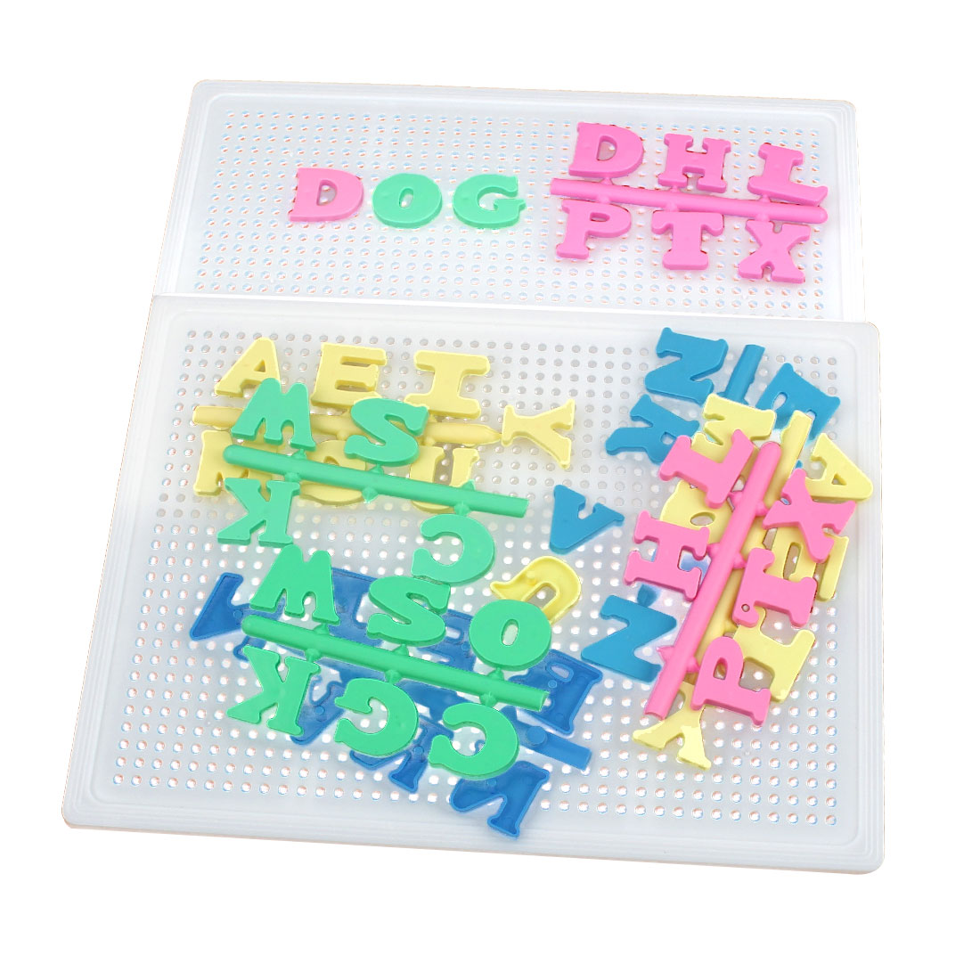 2 Pcs Plastic 26 Block Letters Intelligence Jigsaw Puzzle Set