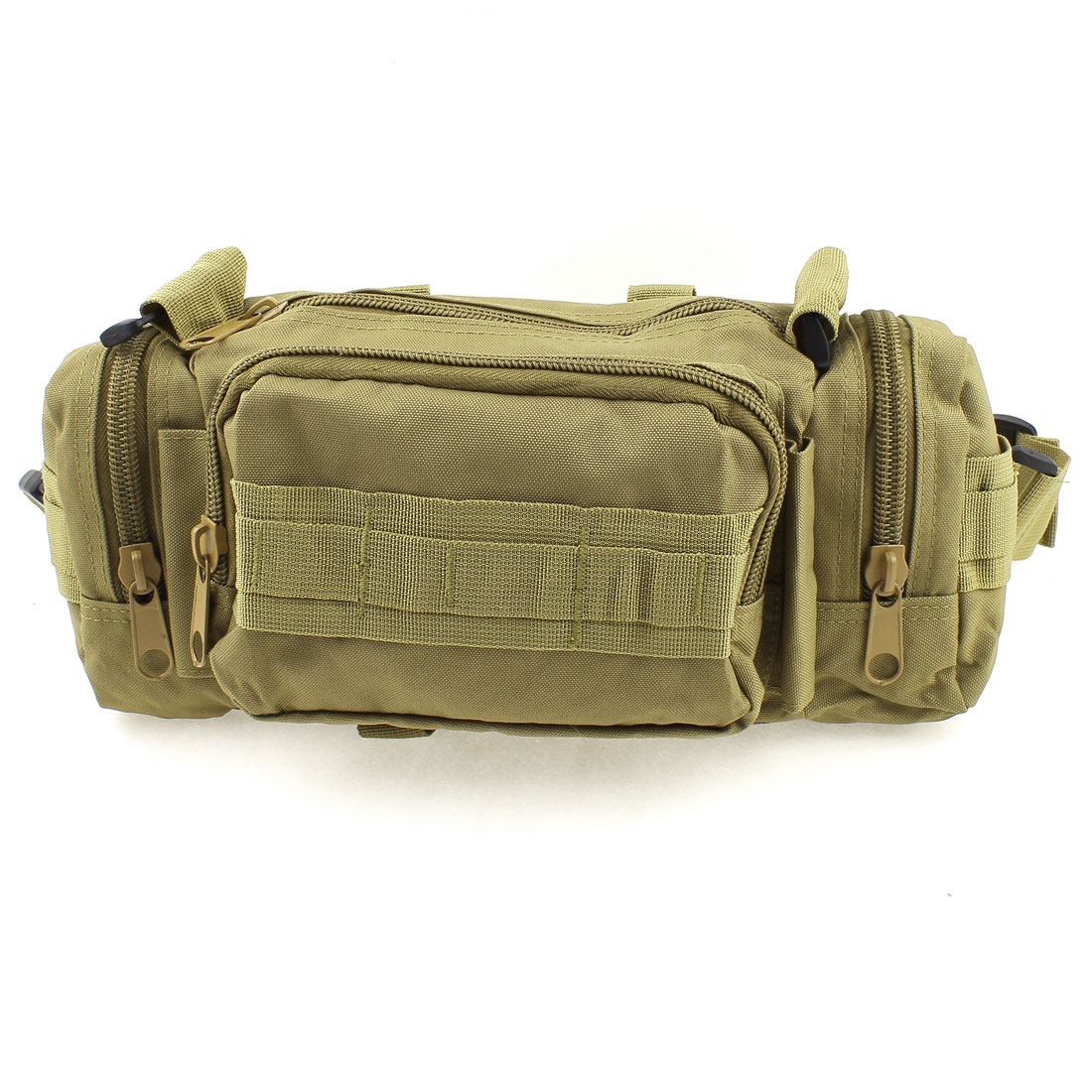 Khaki Zipper Interior Compartment Side Pockets Backpack Bag Case for Camera