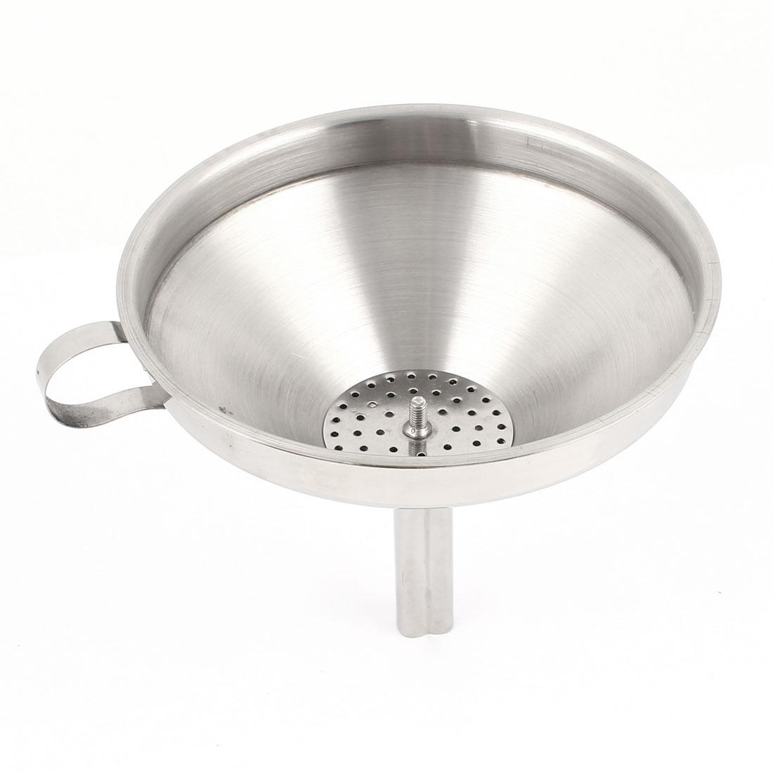 "6"" Dia Laboratory Liquid Measure Stainless Steel Filter Funnel"