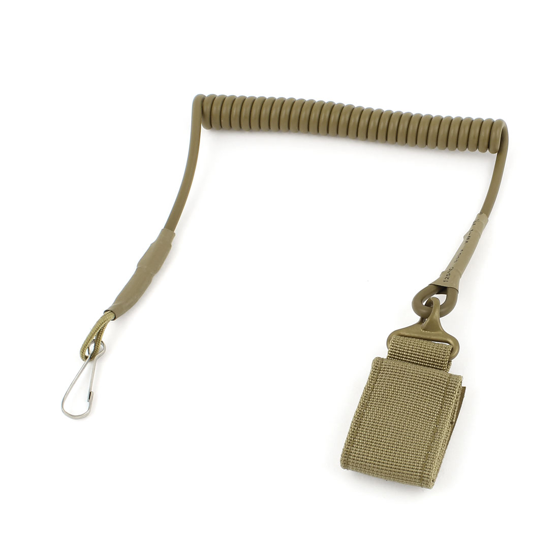 Khaki Spring Cord Rope Swivel Lobster Clasp Keyring Chain Strap