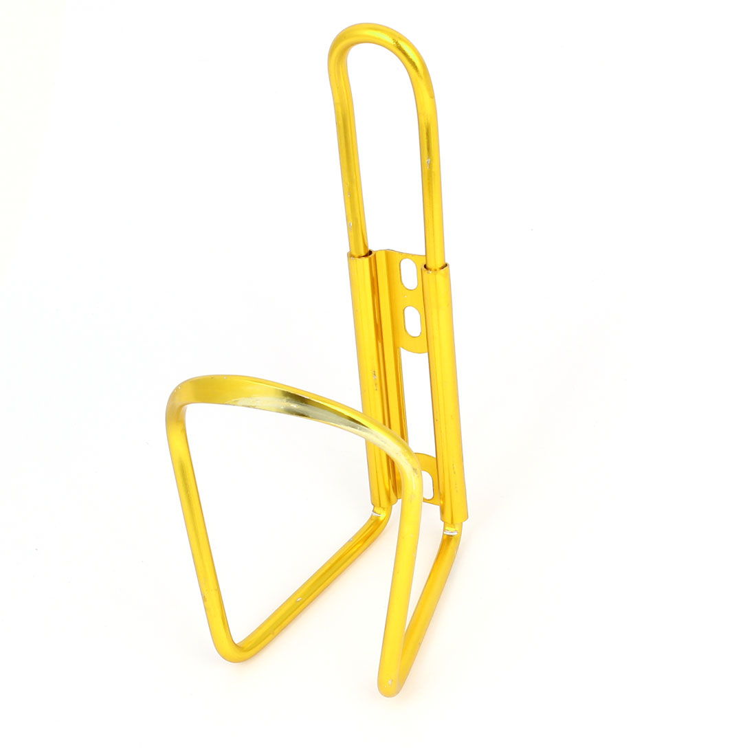 Sports Bike Bicycle Gold Tone Aluminum Alloy Water Bottle Cage Holder