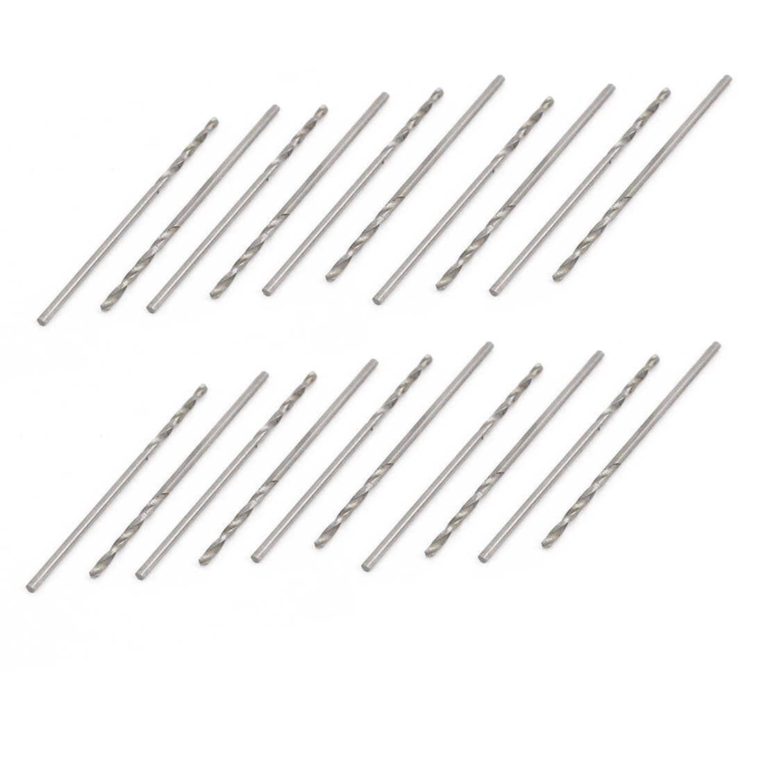High Speed Steel 1.0mm Dia Split Point 33mm Long Twist Drill Bits 20 Pcs