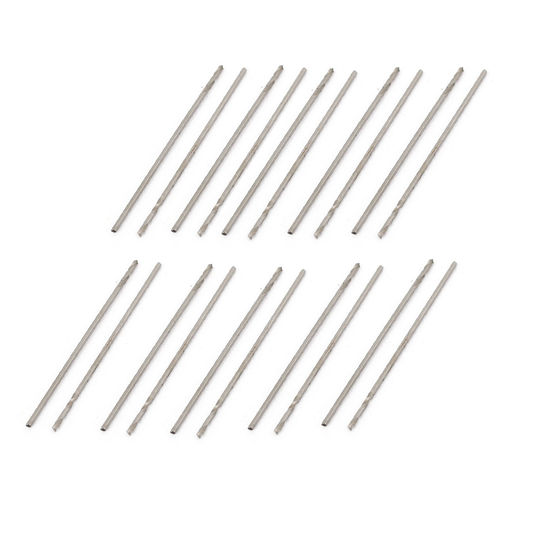 High Speed Steel 0.5mm Dia Split Point 22mm Long Twist Drill Bits 20 Pcs