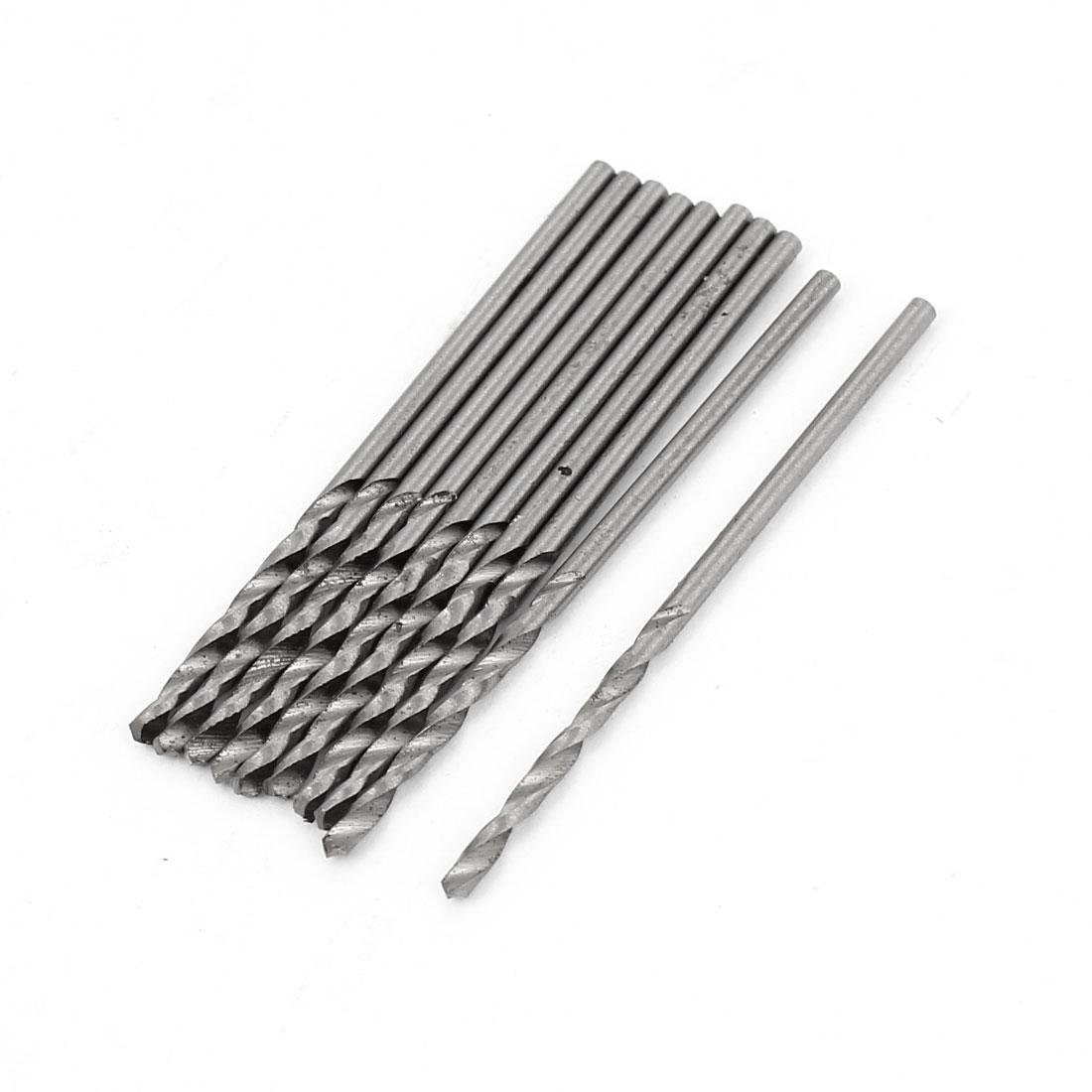 High Speed Steel 1.4mm Dia Split Point 39mm Long Twist Drill Bits 10 Pcs