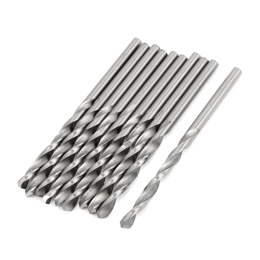 High Speed Steel 3.5mm Dia Split Point 70mm Long Twist Drill Bits 10 Pcs