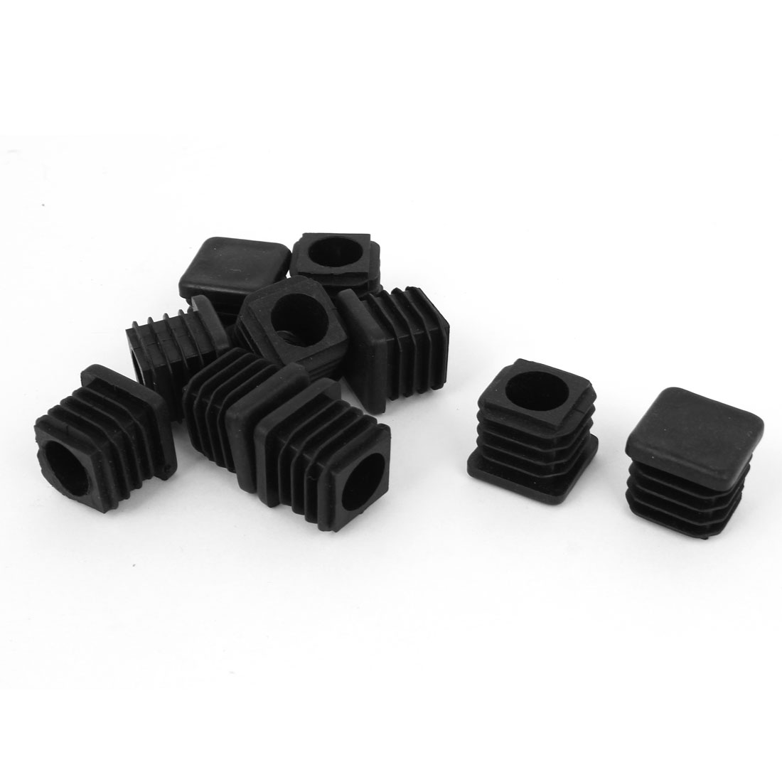 10 Pieces Black Plastic Square Blanking End Caps Tubing Tube Inserts 19mm x 19mm