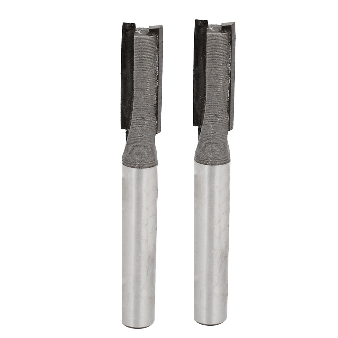 "55mm Long Cut Depth 1/4"" x 1/4"" 2 Flutes Straight Router Bit Cutter 2pcs"