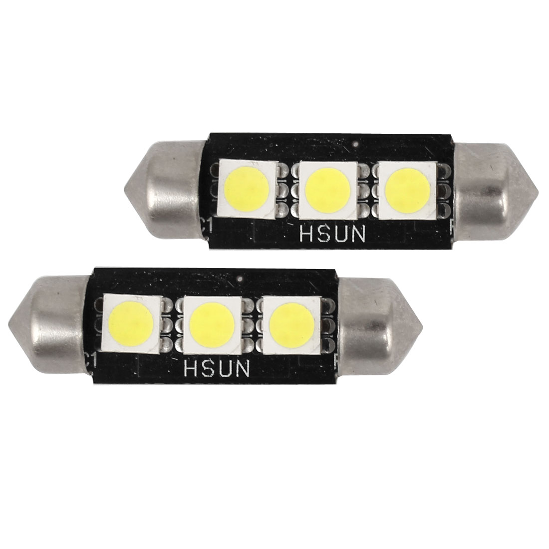 2x 3 SMD LED 36mm 239 272 CANBUS ERROR WHITE NUMBER PLATE LIGHT FESTOON BULB
