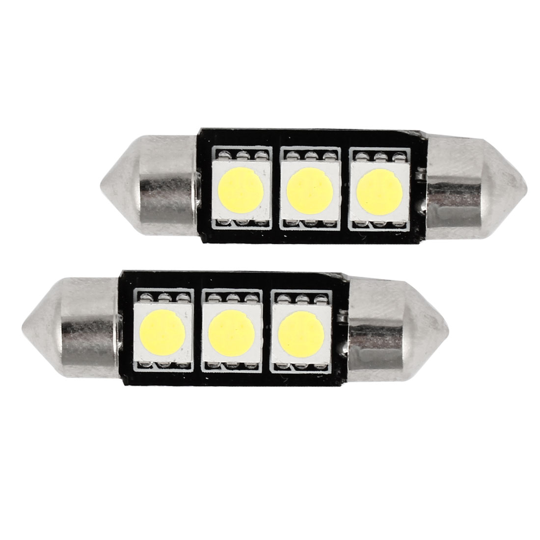 2x 41mm 3 5050 SMD LED 239 272 C5W Canbus No Error White Interior Light Festoon Bulb