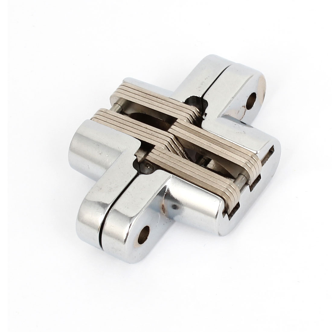 Silver Tone Metal Cross Hinge 62mm Length for Folded Door Cabinet