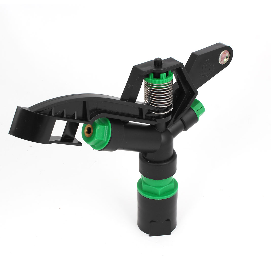 Gardening Lawn 1PT Female Thread Dia Plastic Rotary Water Spray Sprinkler Nozzle Black Green
