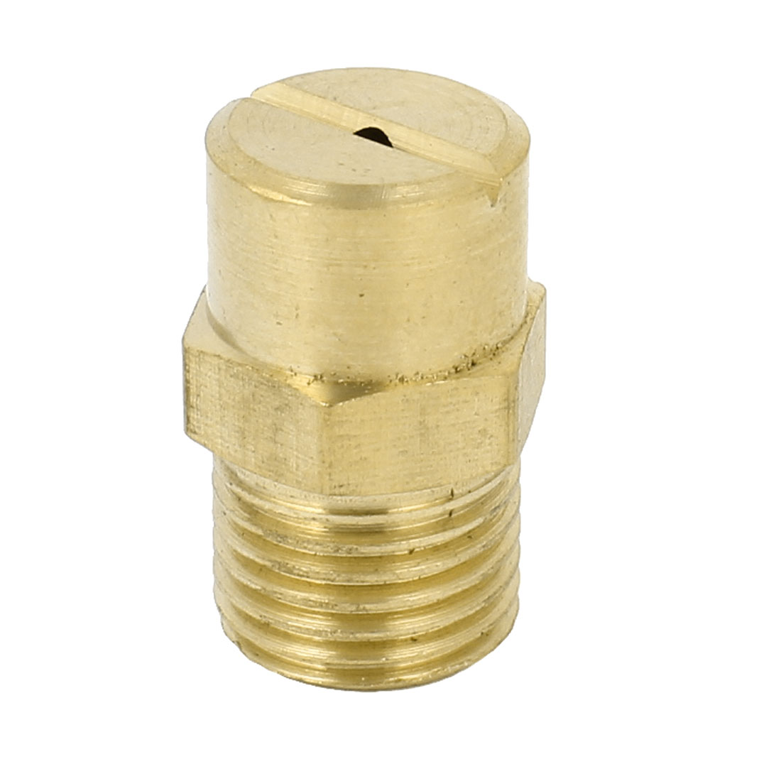Cooling Dust Cleaning 13mm Male Thread Water Mist Spray Head Nozzle Brass Tone