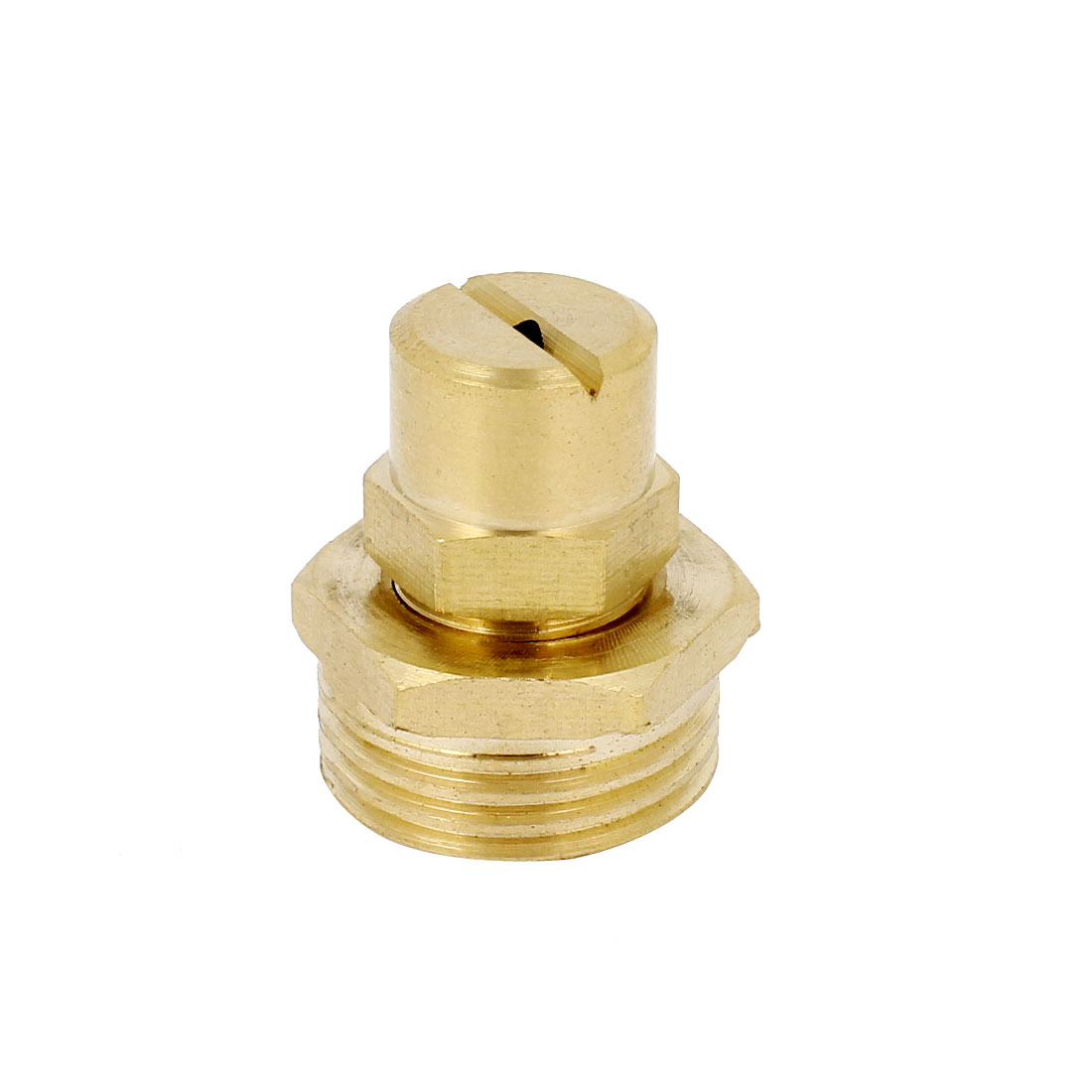 Cooling Dust Cleaning 21mm Male Thread Water Mist Spray Head Nozzle Brass Tone