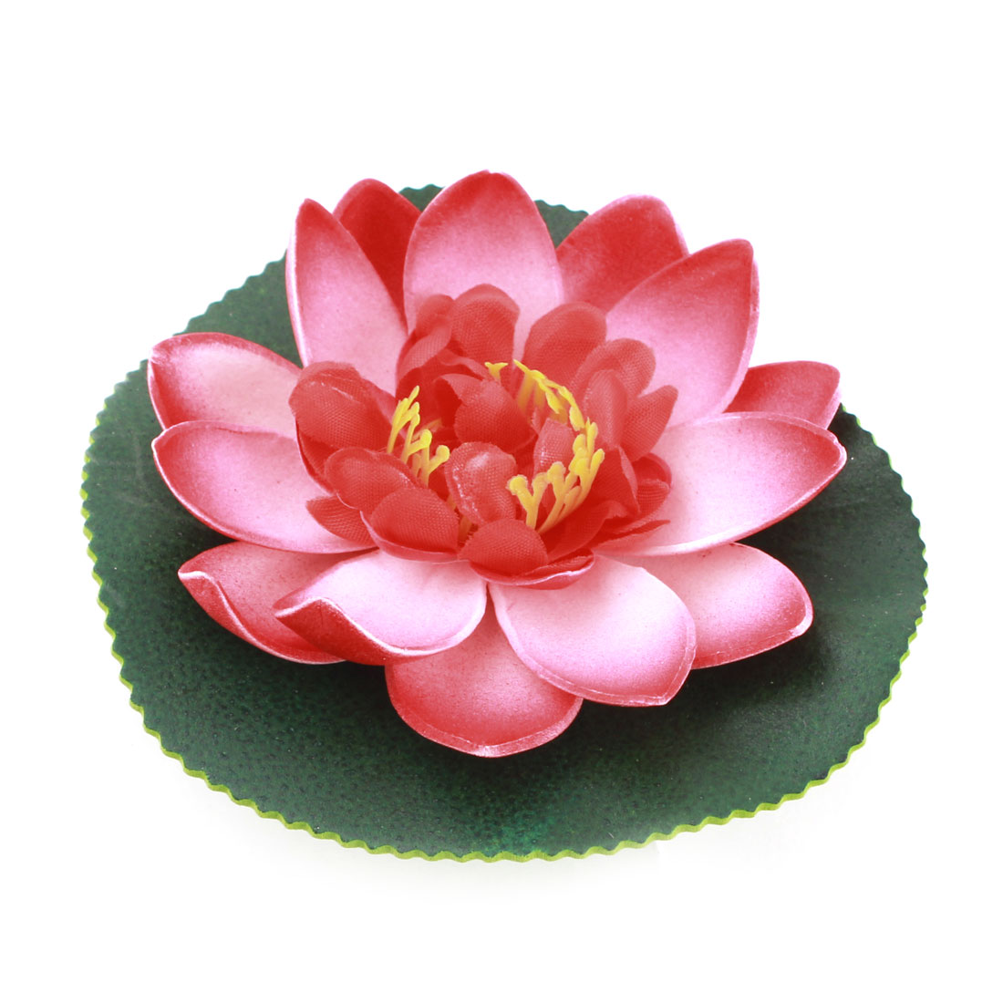 Aquarium Fish Tank Floating Foam Lotus Flower Decor Green Red