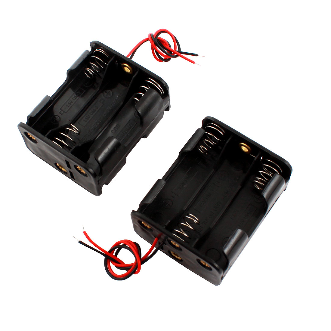 2Pcs Double Sides Battery Storage Case Slot Holder for 6x1.5V AA Batteries