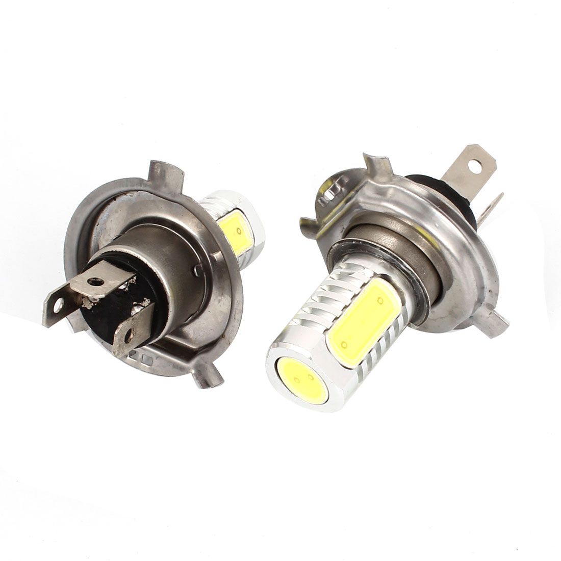 Pair Car 4 SMD LED H4 DRL Daytime Driving Light Foglamp Head Lamp White 6W 12V