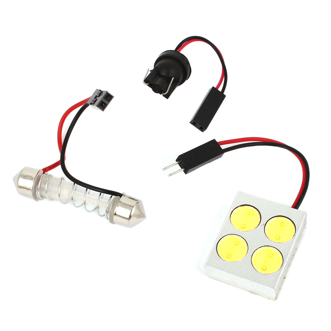 T10 Festoon Adapter 4 SMD LED White Car Interior Dome Light Lamp 4W Internal