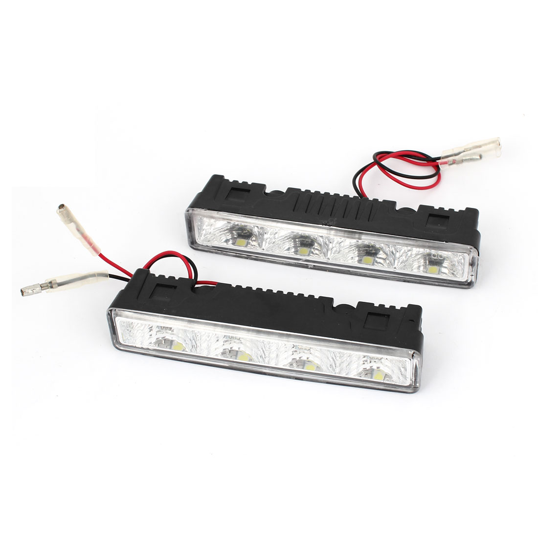 Pair Car White 4 5050 SMD LED DRL Daytime Running Light Fog Lamp Head Light