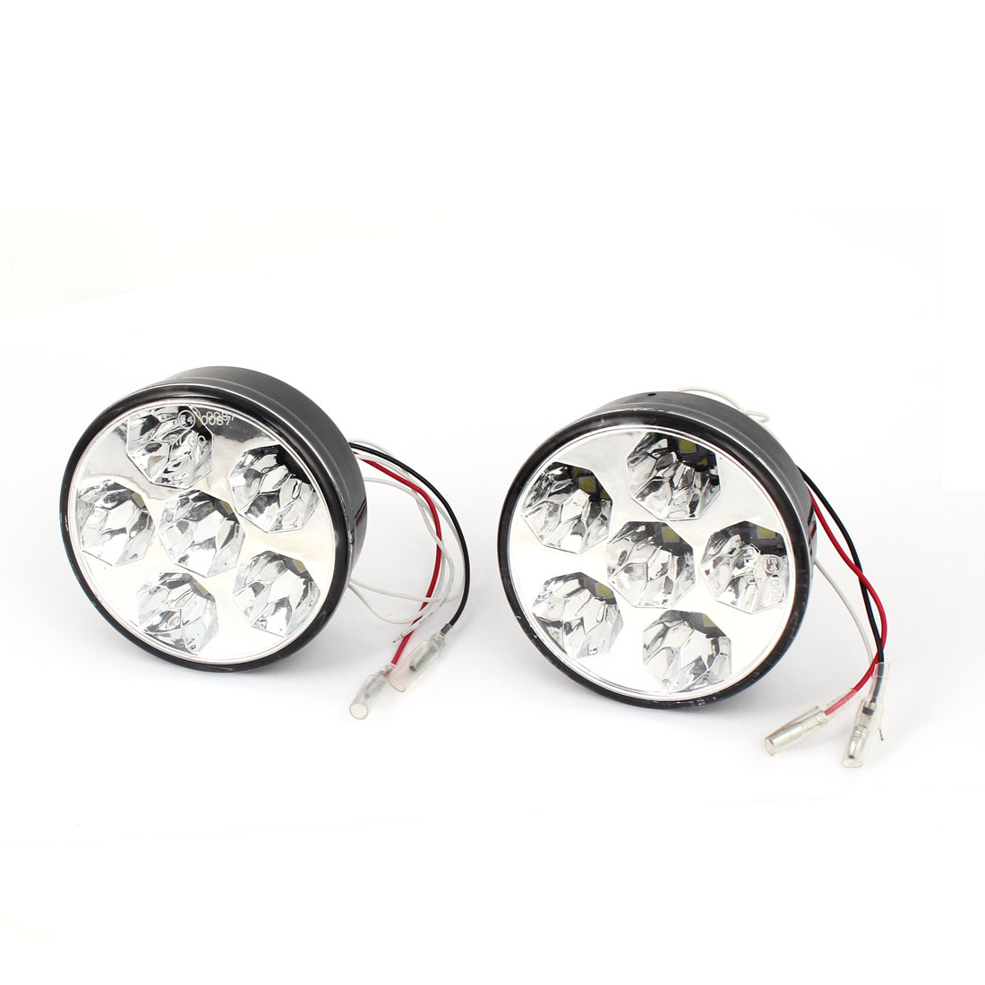 2 Pcs White 6-LED 5050 SMD Car DRL Daytime Running Light Foglamp DC 12V