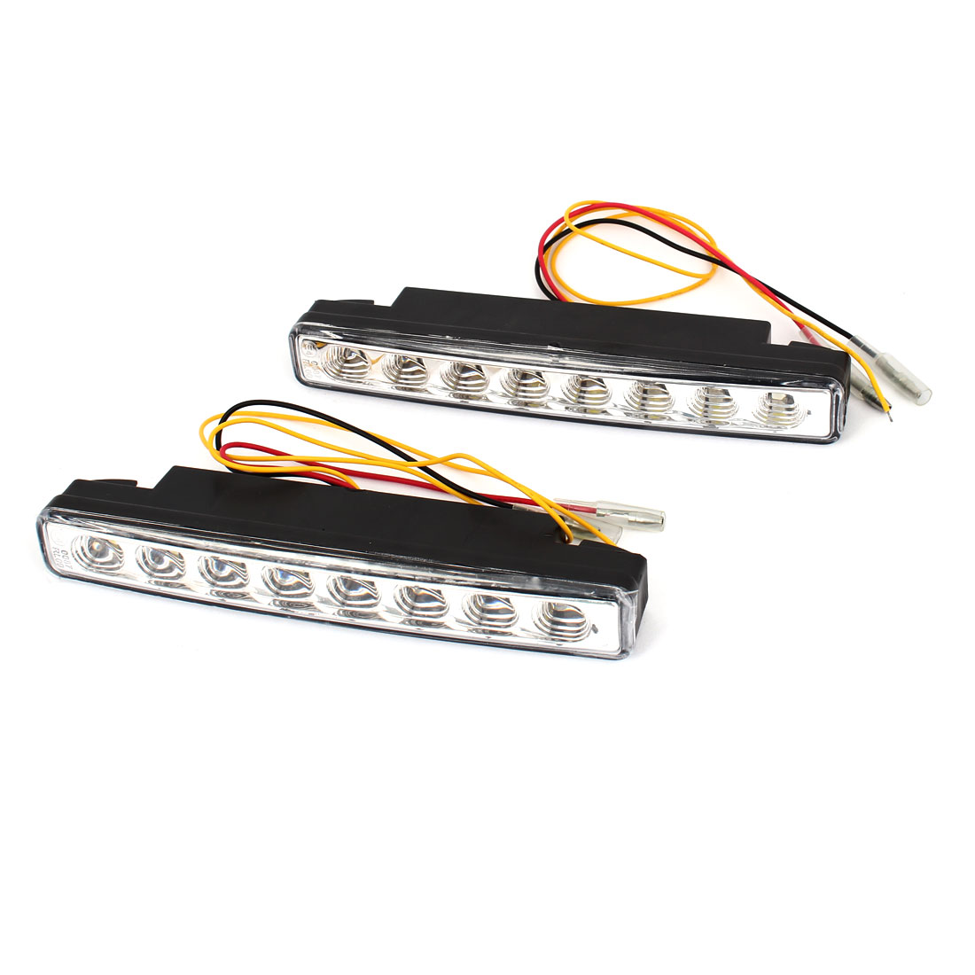 Pair White Yellow 1210 SMD 16 LED Daytime Running Light Driving Lamp 12V