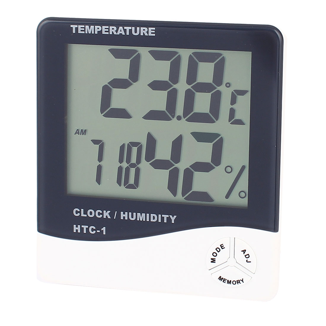 HTC-1 Black White Multi-Function LCD Digital Humidity Thermo-Hygrometer