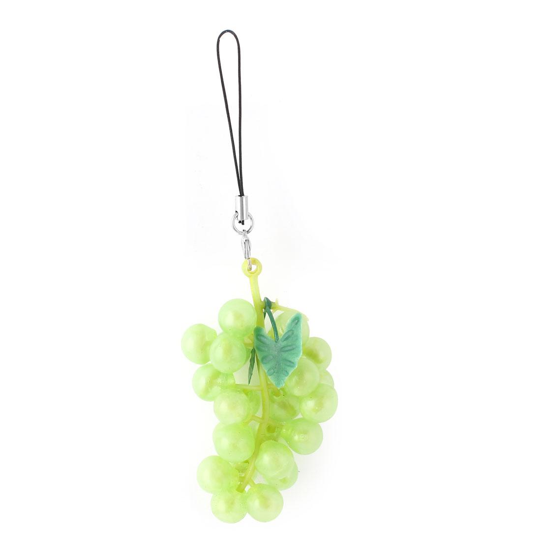 Simulation Green Grapes Shaped Pendant Strap Cellphone Purse Handbag Decor
