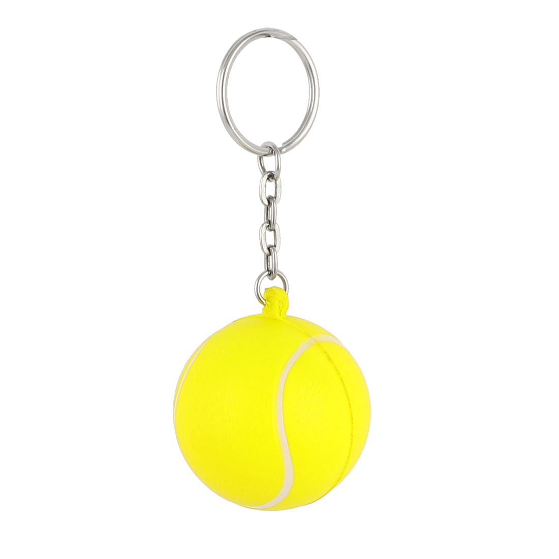 Yellow Tennis Design Pendant Keychain Keyring Hanging Ornament