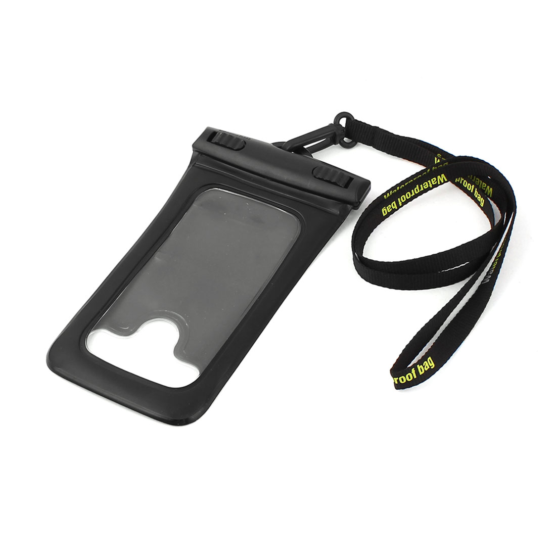 Black Cellphone Smartphone Mobile Phone Waterproof Pouch Protector Bag w Neck Strap Armband