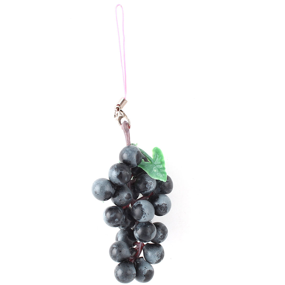 Simulation Black Grapes Shaped Pendant Strap Cellphone Purse Handbag Decor