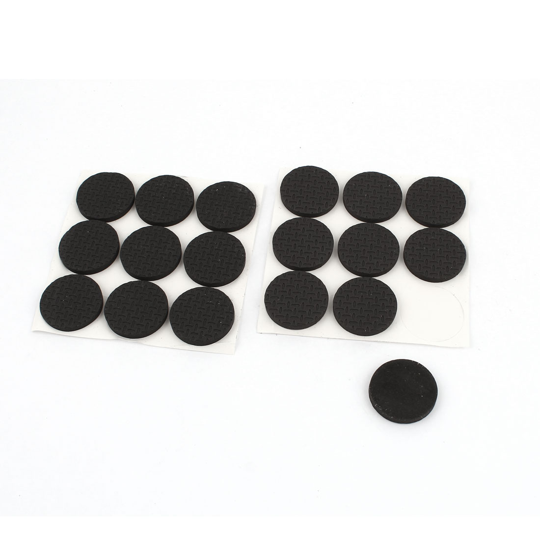 18Pcs Black Foam Self Adhesive Table Chair Furniture Foot Floor Protection Cushion Pad