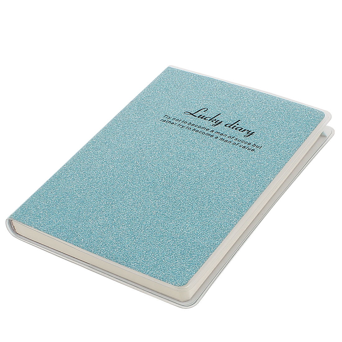 PVC Cover Aqua Glitter Powder Decor Diary Memo Book Notepad 80 Sheets